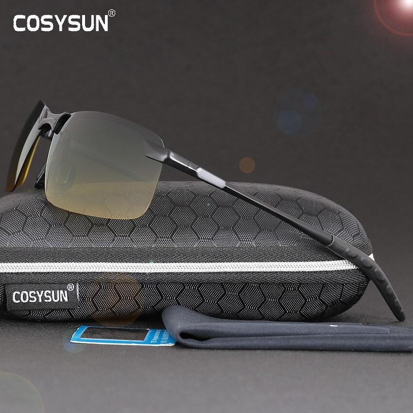 2016 Jour Nuit Vision Lunettes de Conduite lunettes de Soleil Polarisées pour hommes voiture Conduite Lunettes Anti-éblouissement Alliage Cadre lunettes nuit