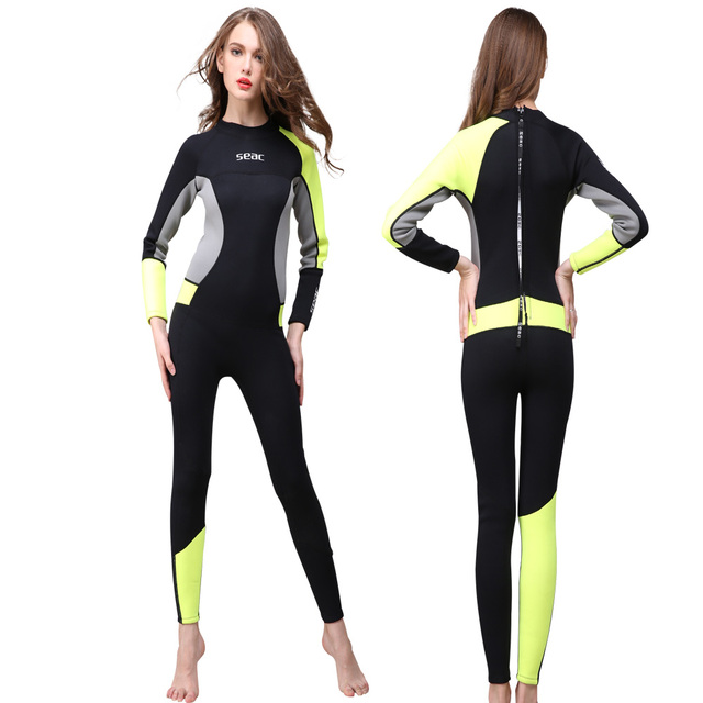 Seac womens surf swimwear wetsuit diving clothes full body suit jpg 640x640  Seac 3mm wetsuit 60960ff37