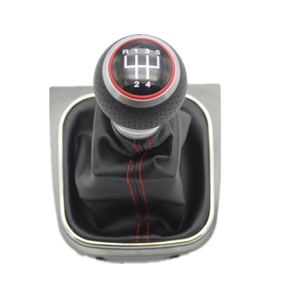 Image 3 - For VW Golf 5 MK5 R32 GTI GTD 2004 2005 2006 2007 2008 2009 New 5 /6 Speed Car Gear Stick Level Shift Knob With Leather Boot-in Gear Shift Knob from Automobiles & Motorcycles