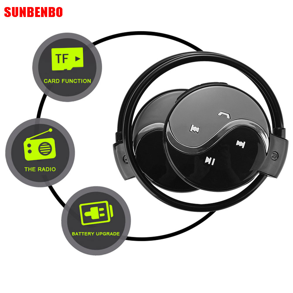 SUNBENBO Earphone Mini603 Wireless Bluetooth Earphone Sport Headsets With Micro Support TF Card Slot+FM Radio Sport Headphone economic set original nia q1 8 gb micro sd card a set bluetooth headphone wireless sport headsets foldable bluetooth earphone