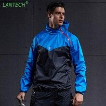 LANTECH Мужская спортивная куртка для бега, спортивная одежда для тренировок, фитнеса, тренажерного зала, куртка с длинным рукавом