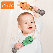 Tumama Baby Musical Rattles Newborns Sand Hammers Educational Toys Soft Ears Teether Toys Flashing Shaking Rattle Hand Bells
