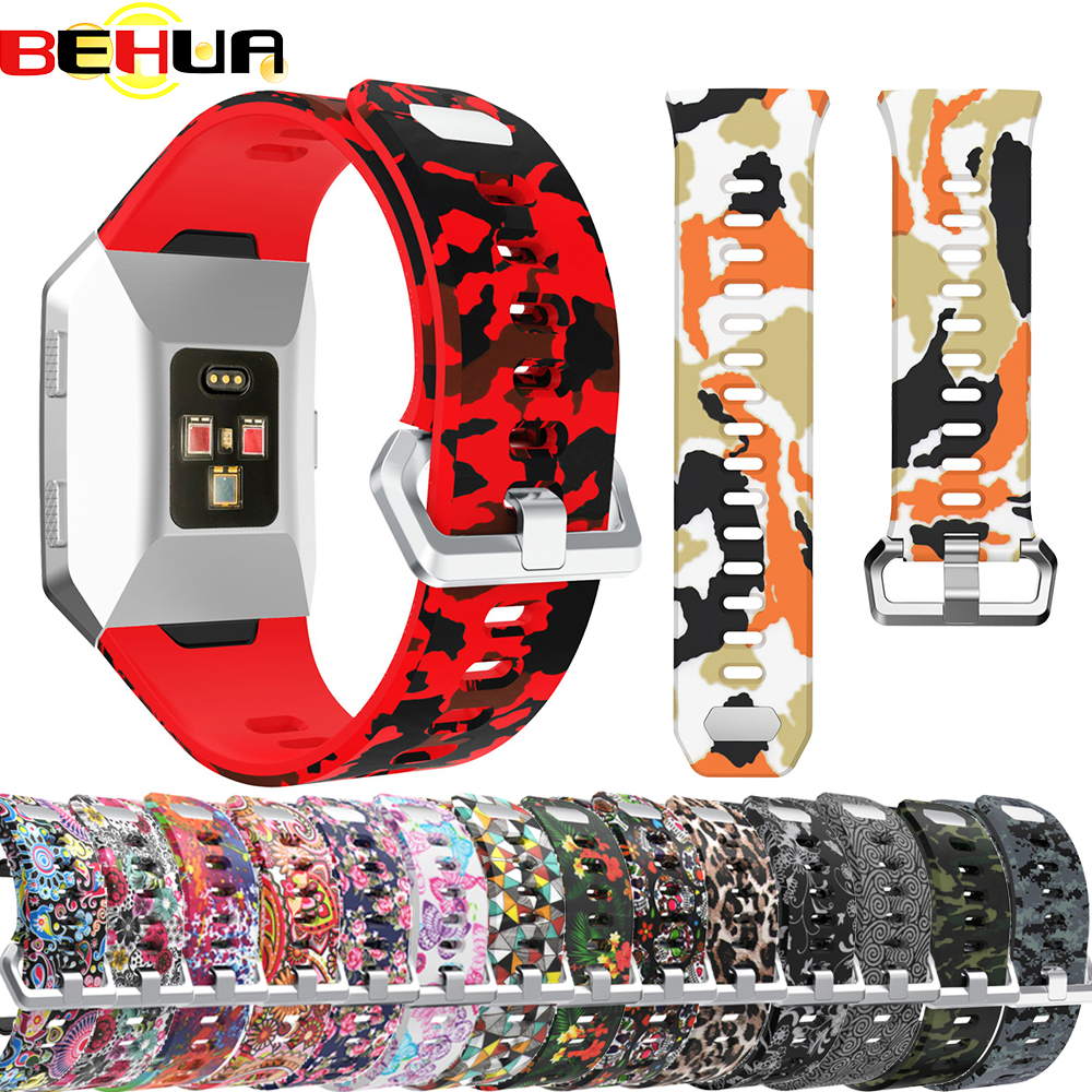 Colorful Straps For Fitbit Ionic Smart Watch Accessories Adjustable Replacement Bangle Silicone Wristband Strap Band Bracelet