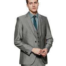 Custom Made Business Men Suits Elegant Styling Tuxedos Men's Wedding Suits Prom Suits (Jacket+Pants+Vest)
