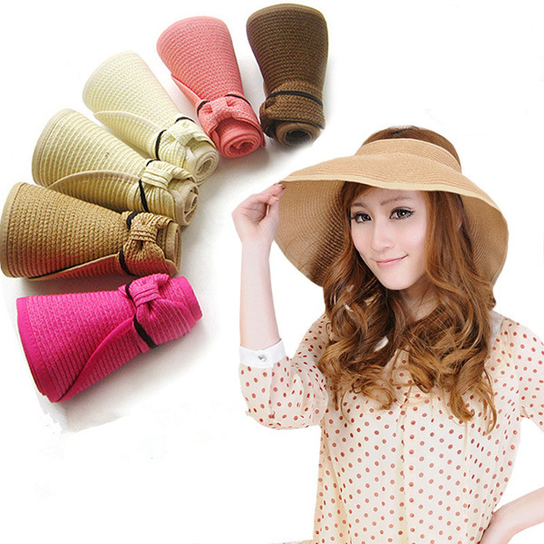 f1365aa138c05 Parental summer sun hat female sun hat rollable foldable beach hat large  brimmed sun