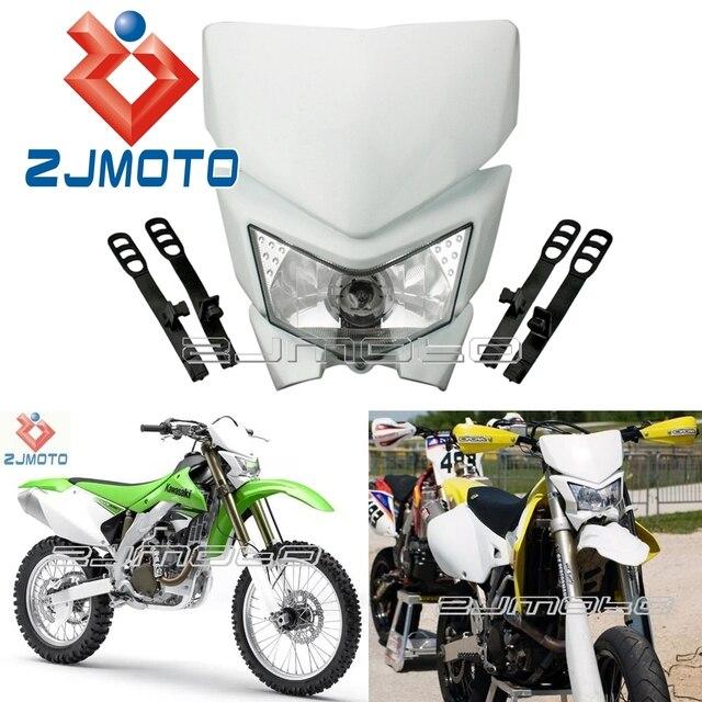 Universal Headlight Dirtbike Motocross Bike White Headlamp Enduro For Kawadaki Kx Klx Kxf Zxr Zx Headlight