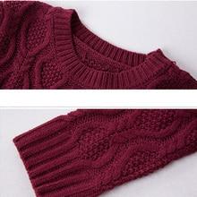 Autumn Winter Thick Warm Sweater Dress Women Sexy O-neck Long Sleeve Knitted Dress  Plus size