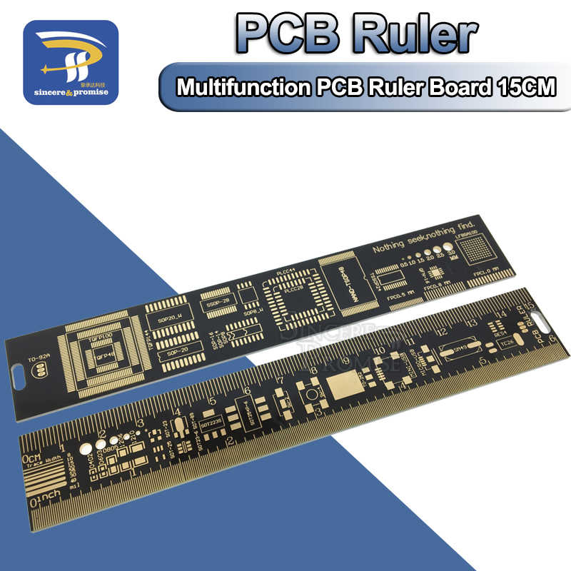 "15CM PCB Ruler v2 - 6"" for Electronic Engineers/Geeks/Makers/For Arduino Fans PCB Reference Ruler PCB Packaging Free shipping"