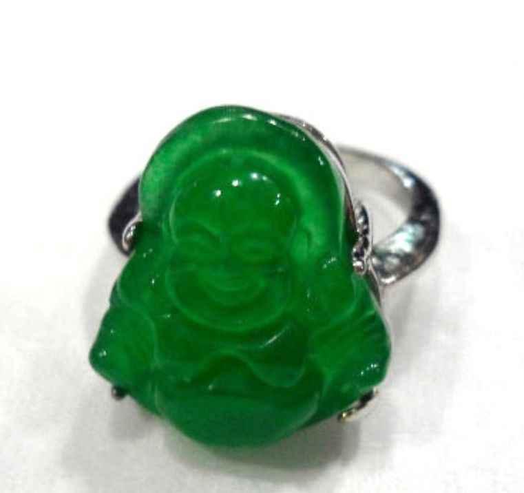 ผู้ชาย/ผู้หญิงแฟนซีแกะสลักสีเขียว jades Buddha bless happy #7,8, 9