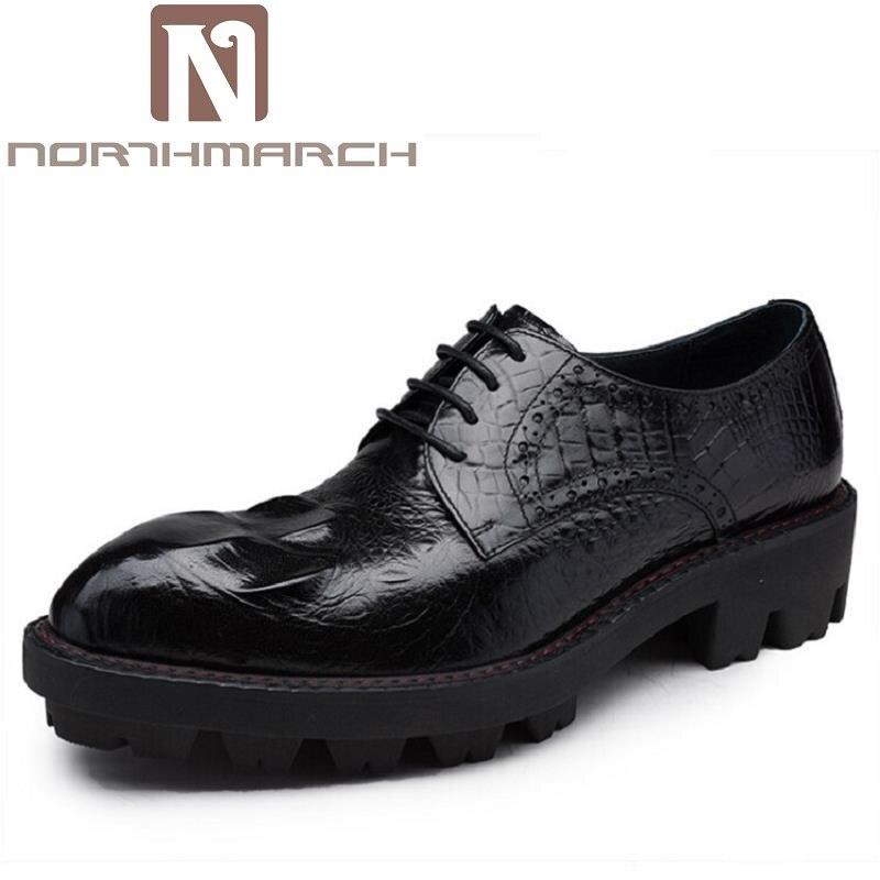 NORTHMARCH/Новое поступление; классические мужские модные модельные свадебные туфли; роскошные мужские деловые туфли дерби; увеличивающие рост