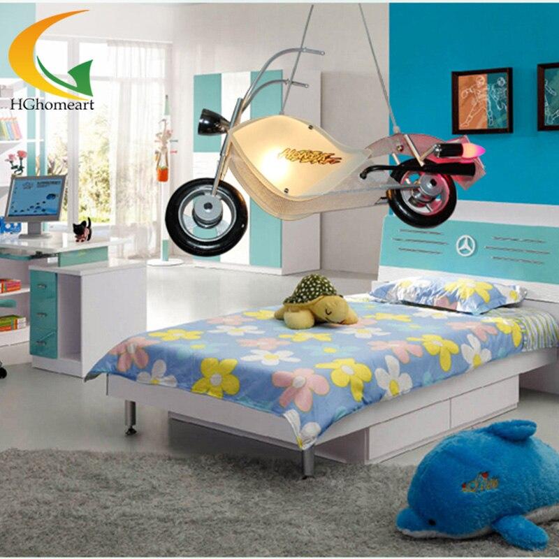 Children's room modern vintage lamp bedroom led lamp children creative personality boy Led Pendant light