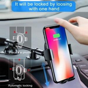 Image 3 - BASEUS 10W Qi Wireless Car Charger สำหรับ iPhone X 8 8Plus แรงโน้มถ่วงรถผู้ถือโทรศัพท์ FAST Charger สำหรับ Samsung S9 S8