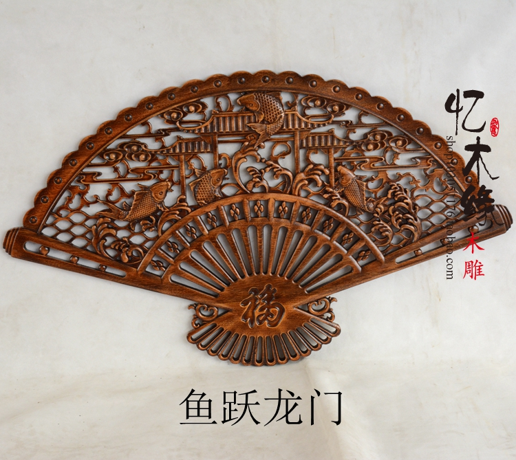 Dongyang camphor wood crafts carving pendant fan hanging antique wood Chinese style living room decoration dongyang woodcarving camphor wood furniture wood carved camphorwood box suitcase box antique calligraphy collection box insect d