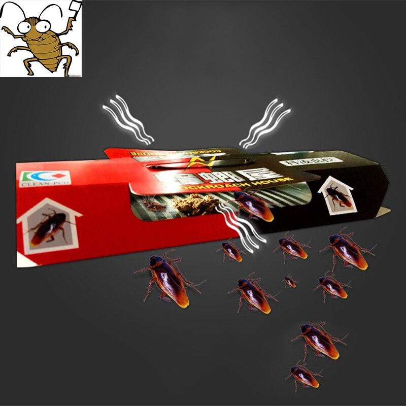 10 piezas cucaracha casa cucaracha trampa repelente al matar a cebo pegajoso fuerte Catcher trampas de insectos repelente de plagas Eco-friendly
