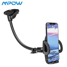 Mpow Universal Adjustable Car Phone Holders Stand Long Arm Windshield Mount Cradle Flexible Dashboard Holder