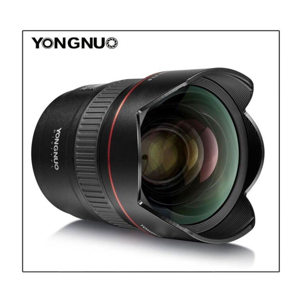 YONGNUO 14mm F2.8 Ultra-Grand Angle Premier Objectif YN14mm Mise Au Point Automatique AF MF Métal Monture pour Canon 700D 80D 5D Mark III IV