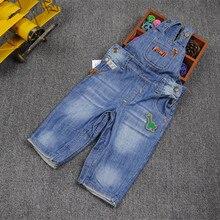 Купить с кэшбэком baby girl boys denim overall autumn cowboy jumpsuit for kids boys girls Bebe toddler overalls Kids Jumpsuit 9-24M