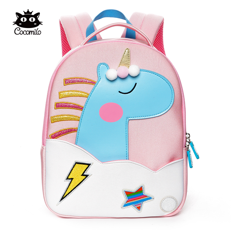 Cocomilo Cartoon Kids School Bag 3D Unicorn Elephant Design Kindergarten Baby Girl Boy Shoulder Backpack Toddler Mochil Escolar