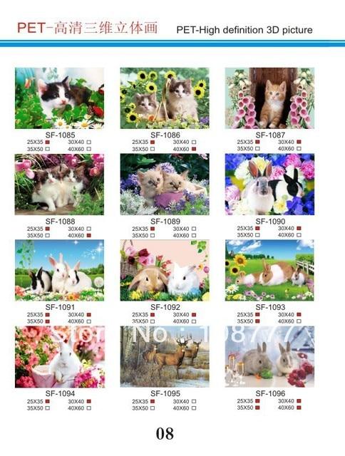 HD 3D stereoscopic paintings/3D picture/size30*40/Retail orwholesale /1093