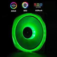 JONSBO RGB вентилятор 120 мм PC чехол Вентилятор Cooler двойными бортами Glow хрустальный светильник 3PIN+ большой 4D Питание материнская плата 12V 4PIN AURA SYNC