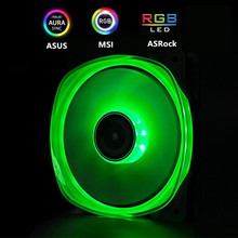 цены JONSBO RGB Fan 120mm PC Case Fan Cooler Double Sides Glow Crystal light 3PIN+Big 4D Power Supply Motherboard 12V 4PIN AURA SYNC