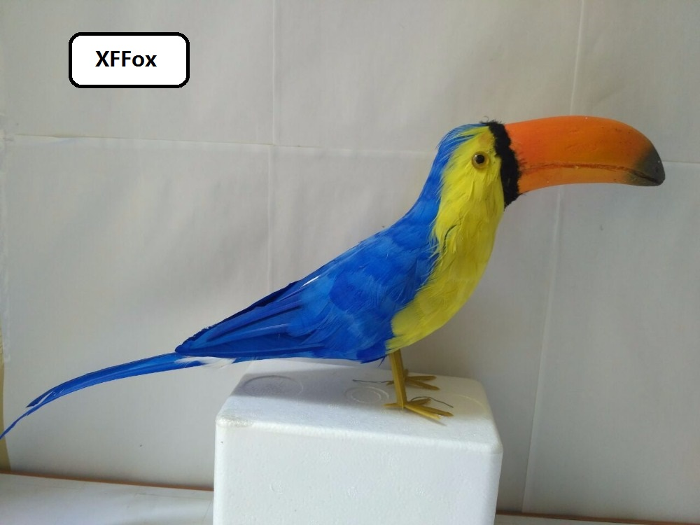 creative simulation blue bird model polyethylene&furs Toucan toy gift about 45cm xf0354