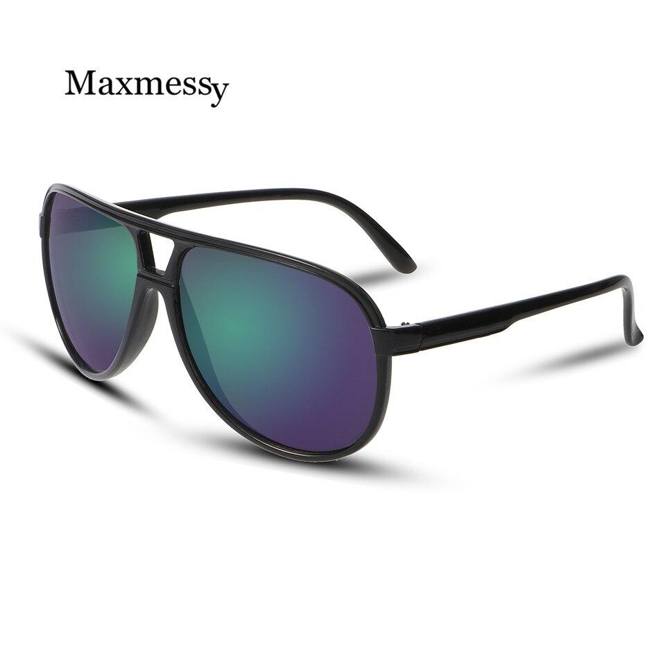 New Sunglasses Mirror Coating Oversized Sun Glasses UV400 Pilot Eyewear Vintage Glasses Women Men Brand Designer oculos de sol