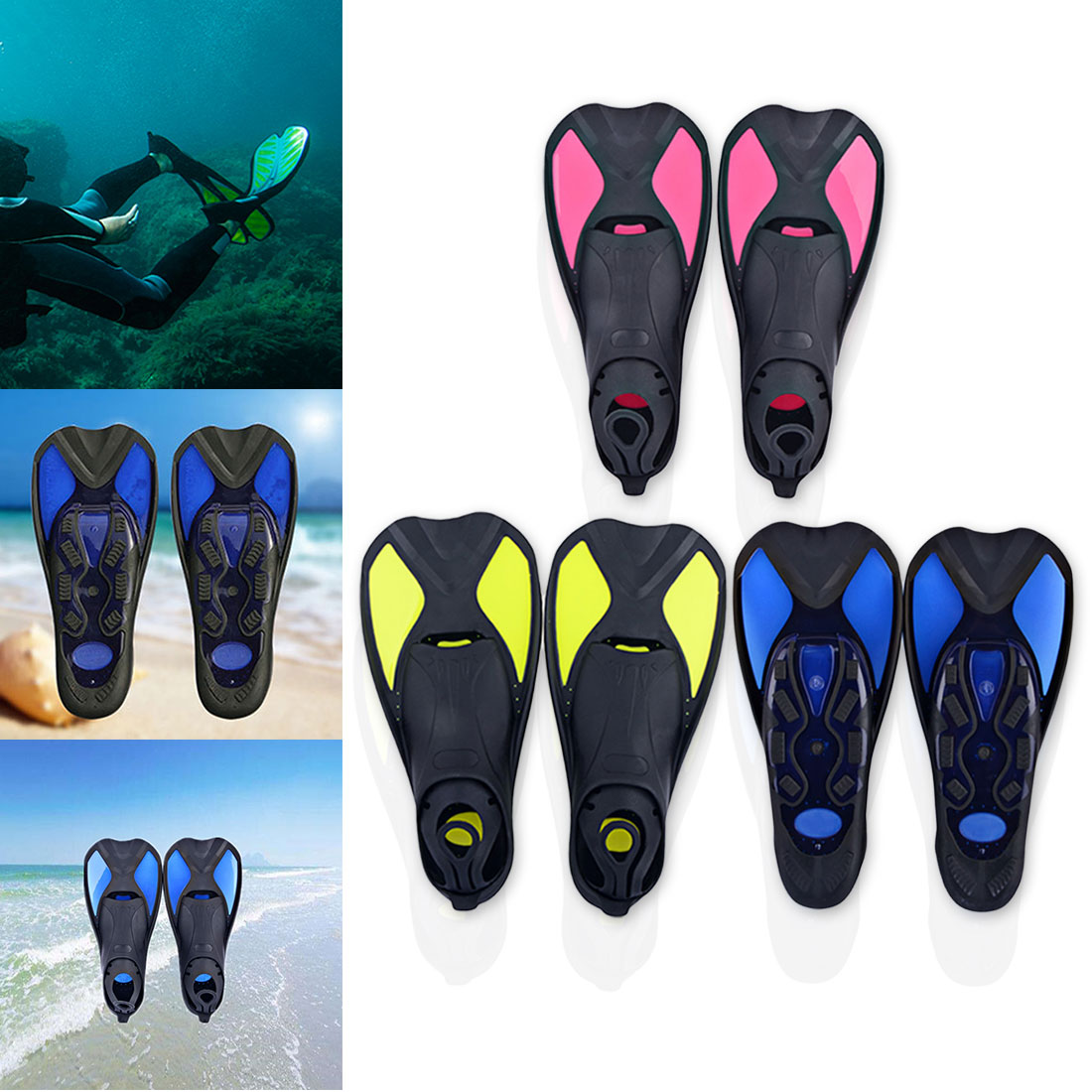 Offre spéciale de plongée en apnée pied Flipper plongée palmes de natation confort Flexible enfants courts grenouille chaussures débutant équipement de natation