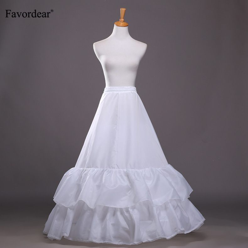 Weddings & Events Wedding Accessories Enthusiastic Favordear Underskirt White A-line Wedding Dress Petticoat Elastic Waistband Tie Rope 2 Hoops 2 Ruffles Performance Petticoat