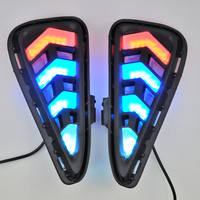 2PCS White Tri Color Waterproof And Turn Signal Style Relay 12v LED CAR DRL Daytime Running