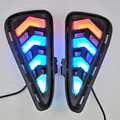 2pcs white&Tri color Waterproof  12v LED CAR DRL daytime running lights FOR TOYOTA CAMRY 2015 Car Styling