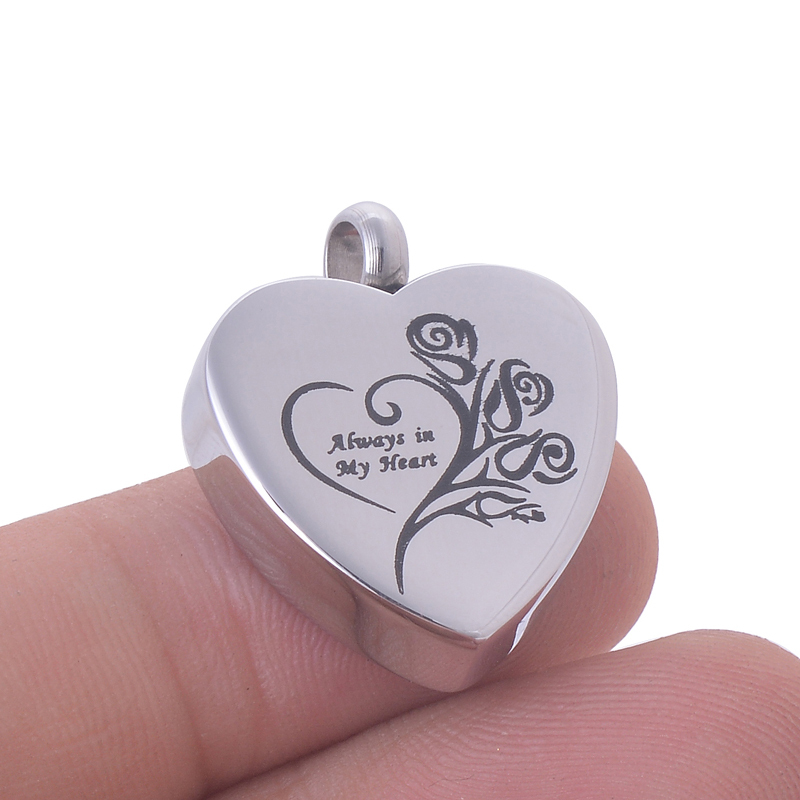 Michley Heart Stainless Steel Urn Necklace Pendant Jewelry