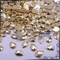 8*12 мм 500 шт. Золотого Цвета Падение Стразами Пришить Flatback Акриловые Стразы и Камни Для Одежды платья Ремесла
