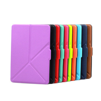 [30pcs/lot] Ultra Slim Origami PU Leather Case Cover for Amazon Kindle Paperwhite 1/2/3 with Sleep & Wake-up Function