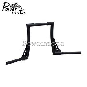 "Image 3 - Manillar elevado tipo manillar personalizado para motocicleta, 12 "", Rise 1 1/4"", color negro, APE Hanger manillar, barras anchas, manillar para Harley Sportster Touring Dyna"