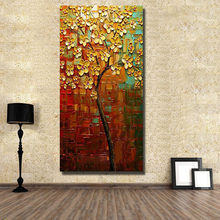 Free shipping Modern thick oil flowers 100%Handmade Abstract Oil Painting on Canvas Pictures wall image picture room Home Decor(China)