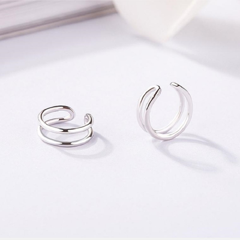 Elitven Ear Cuff 925 Sterling Silver Simple Minimalist Geometric Clip on Earrings for Women Girls Jewelry Birthday Gifts in Earrings from Jewelry Accessories