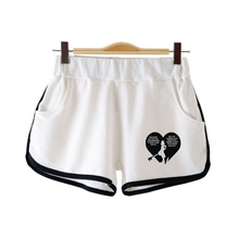 цена LUCKYFRIDAYF Kpop New Kingdom Hearts Elastic Waist Shorts Women Casual Loose Cotton Shorts for Women Young Printing Short Femme в интернет-магазинах