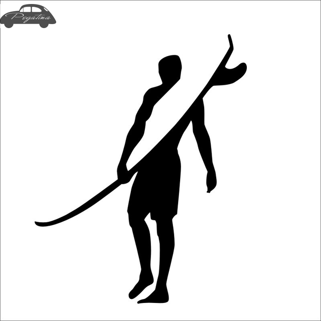 b63edc836 Pegatina Surf Sticker Surfing Car Decal Posters Vinyl Wall Boat Yacht Decor  Mural Sticker