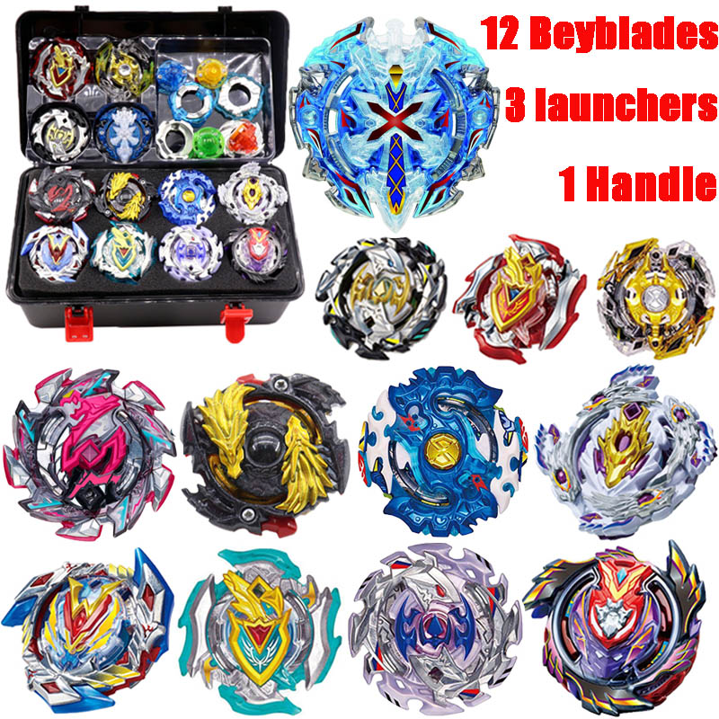 Toupie Beyblade Burst Metal Fusion Beyblades Set Storage Box Top bey blade Toys With Launcher Hnadle Bayblade Toys For Children цена