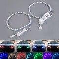 4 pcs E36 E38 E39 E46 RGB 4*131 MM Multi Color-5050 Flash Anéis kit para BMW LED ANGEL EYES Farol Do Carro Quente venda