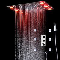 Remote control color need electric power shower unit rain set/brass hand shower/shower hose/shower spray jets