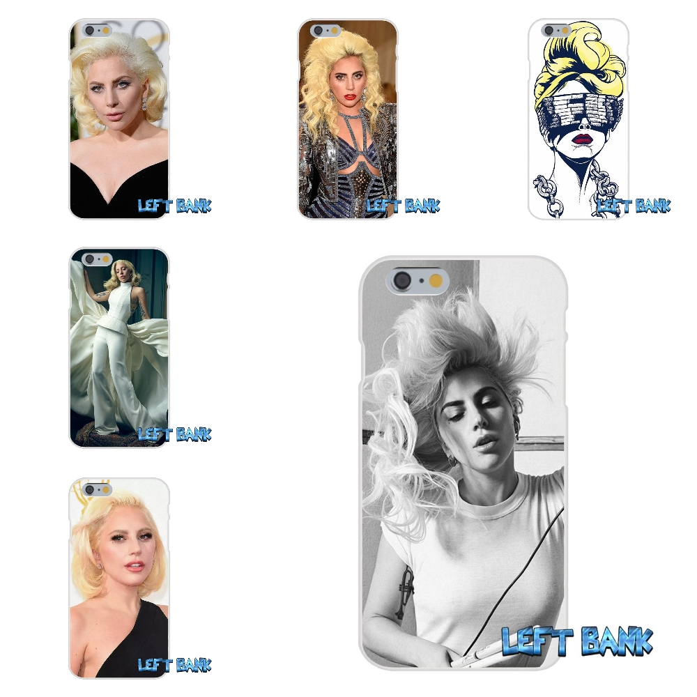 Popstar Lady Gaga Soft Silicone TPU Transparent Cover Case For iPhone 4 4S 5 5S 5C SE 6 6S 7 Plus