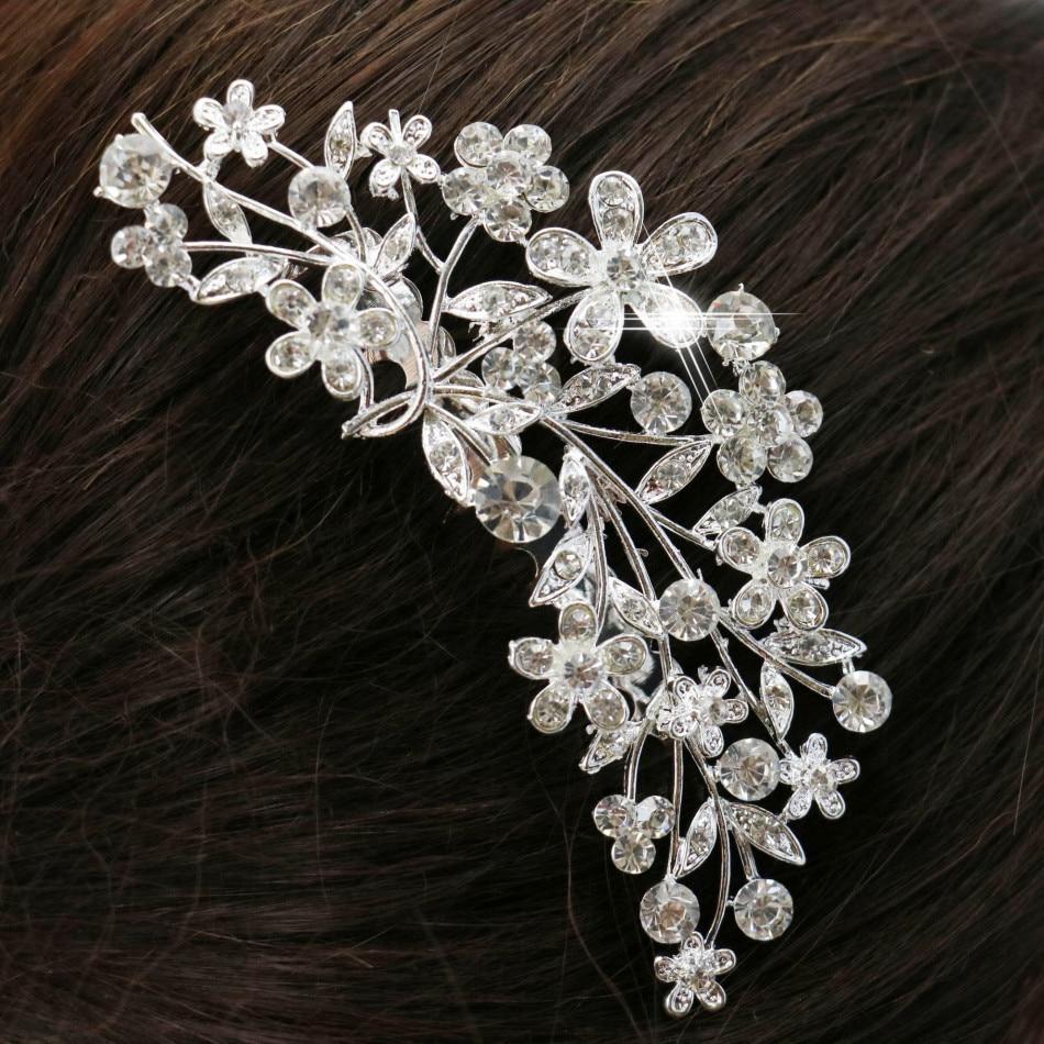 Beautiful Bride Flower Hairpin Leaves Hair Comb Elegant Hair Clips ...