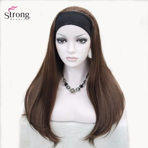 Image 5 - StrongBeauty Headband wigs Women Synthetic Capless Long Straight Hair Blonde/Black Natural Wigs