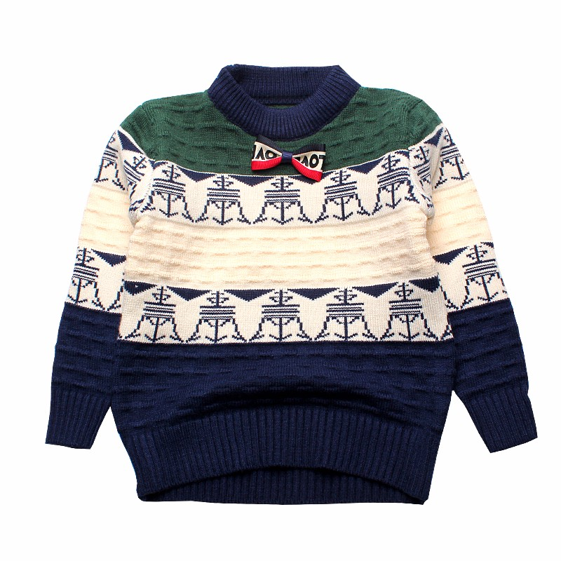 b13f7e043c1b Fashion Children Boys Sweaters Patchwork Cotton Crochet Baby Boys ...