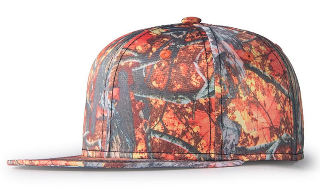 10pcs NEW Men Woodland Camo Flat Brim Baseball Snapback Hat Women Camo Flatbill Snap Backs Hats Outdoor Snap Back Caps