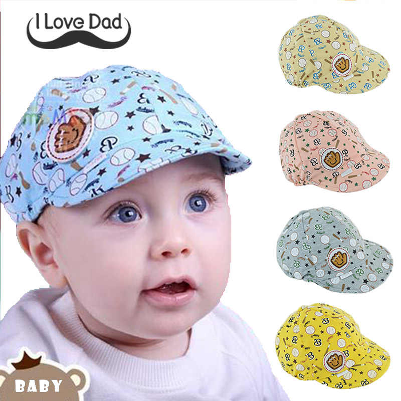 339e9ede0 3-24 Months Baby Boy Girl Autumn Hats Children Baseball Caps Kids Peaked  Beret Hats Infant Lovely Cricket-Cap gorras para bebes