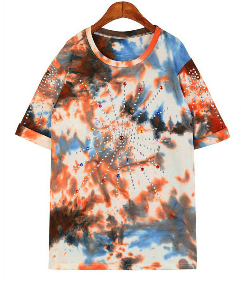 Hot Sale 2016 Summer New Women's Camouflage Printing Multi Gem Fatigues Casual Hip-hop T-shirts Female Tees Women T shirt