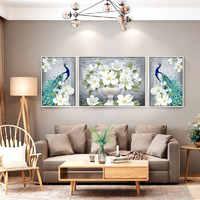 Pintura de diamante, bordado de diamante venta, flor, 5D, DIY, Cruz, mosaico de diamantes, costura, completa, imagen de rhinestones